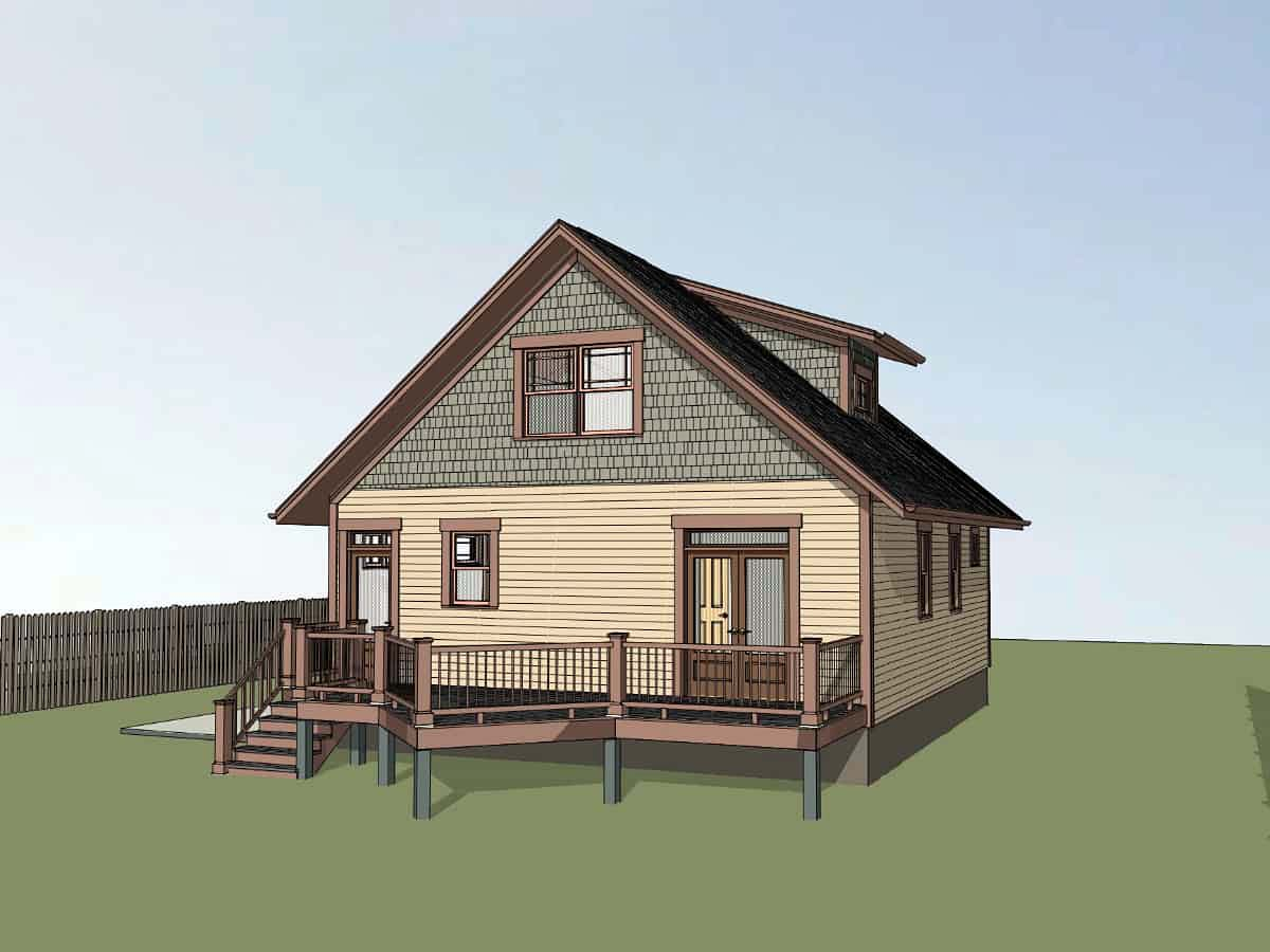 Bungalow House Plan 75545 with 3 Beds, 3 Baths Picture 2