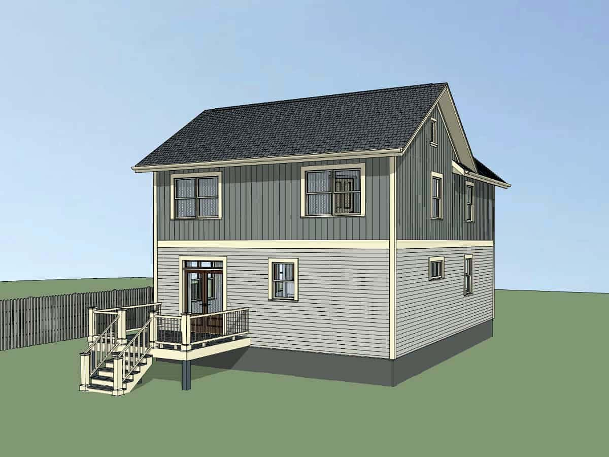 Bungalow, Colonial, Cottage, Traditional House Plan 75574 with 4 Beds, 3 Baths Picture 2