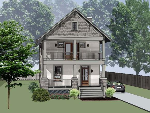Country, Craftsman, Southern House Plan 75577 with 3 Beds, 3 Baths Elevation