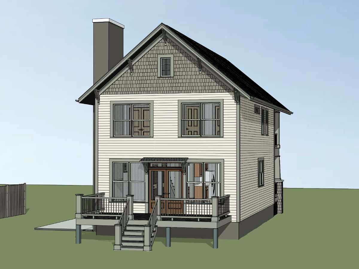 Country, Craftsman, Southern House Plan 75577 with 3 Beds, 3 Baths Picture 2