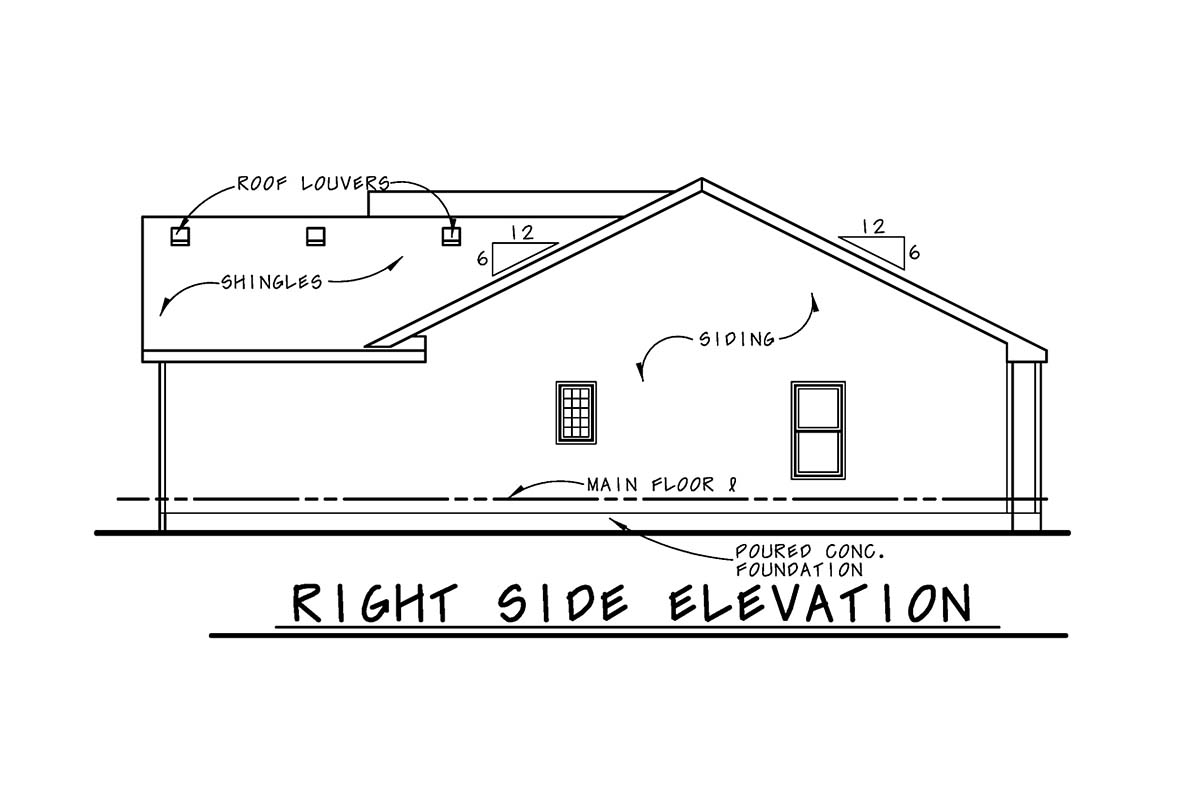 Traditional Multi-Family Plan 75749 with 2 Beds, 2 Baths, 2 Car Garage Picture 1