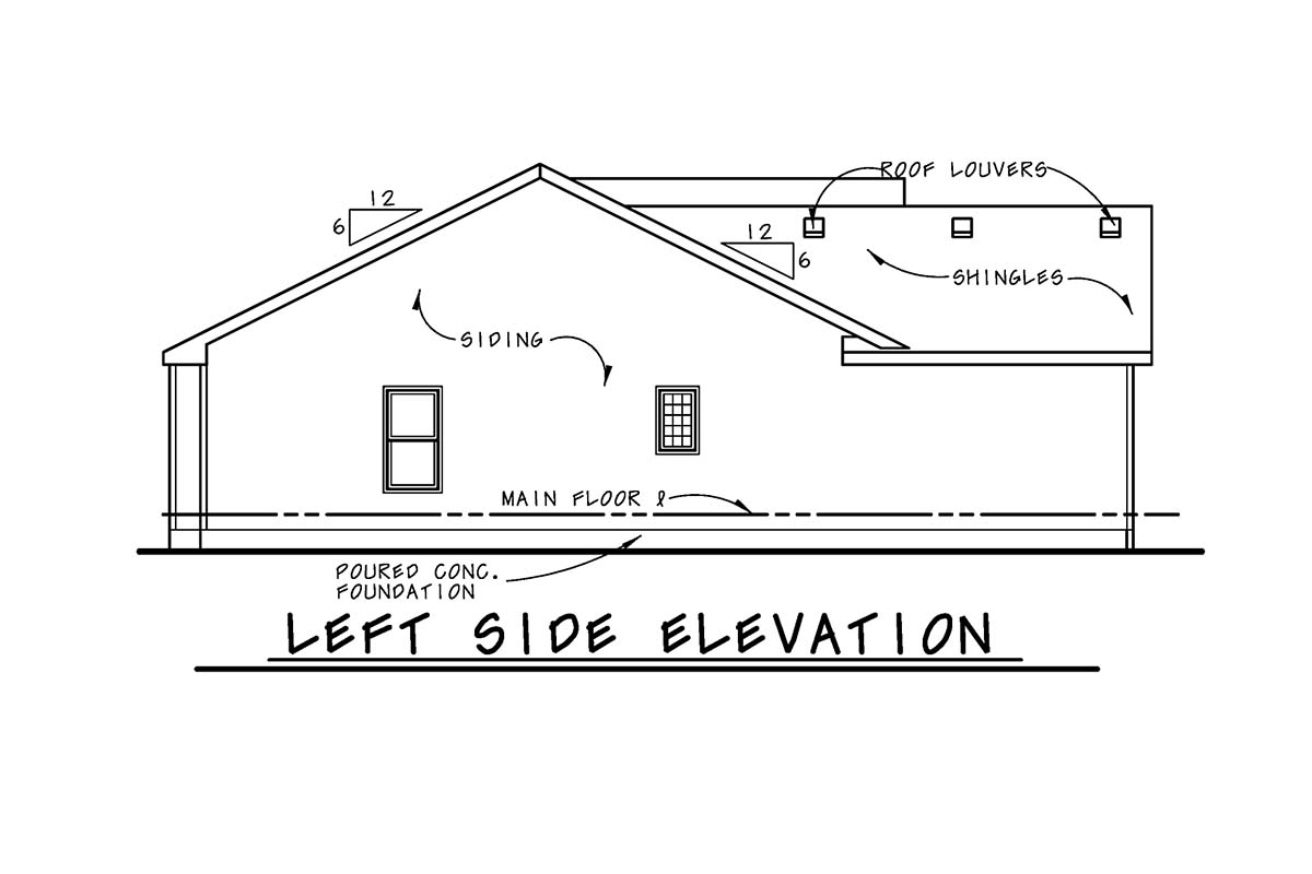 Traditional Multi-Family Plan 75749 with 2 Beds, 2 Baths, 2 Car Garage Picture 2