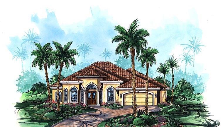 Mediterranean House Plan 75901 Elevation