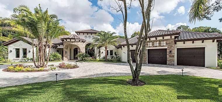Florida Mediterranean House Plan 75932 Elevation