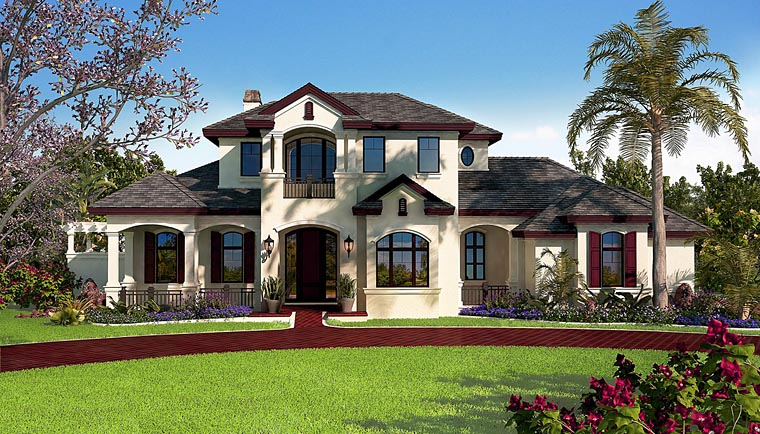 Florida Mediterranean House Plan 75938 Elevation