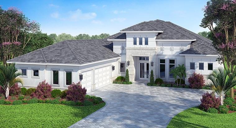 Florida Mediterranean House Plan 75975 Elevation