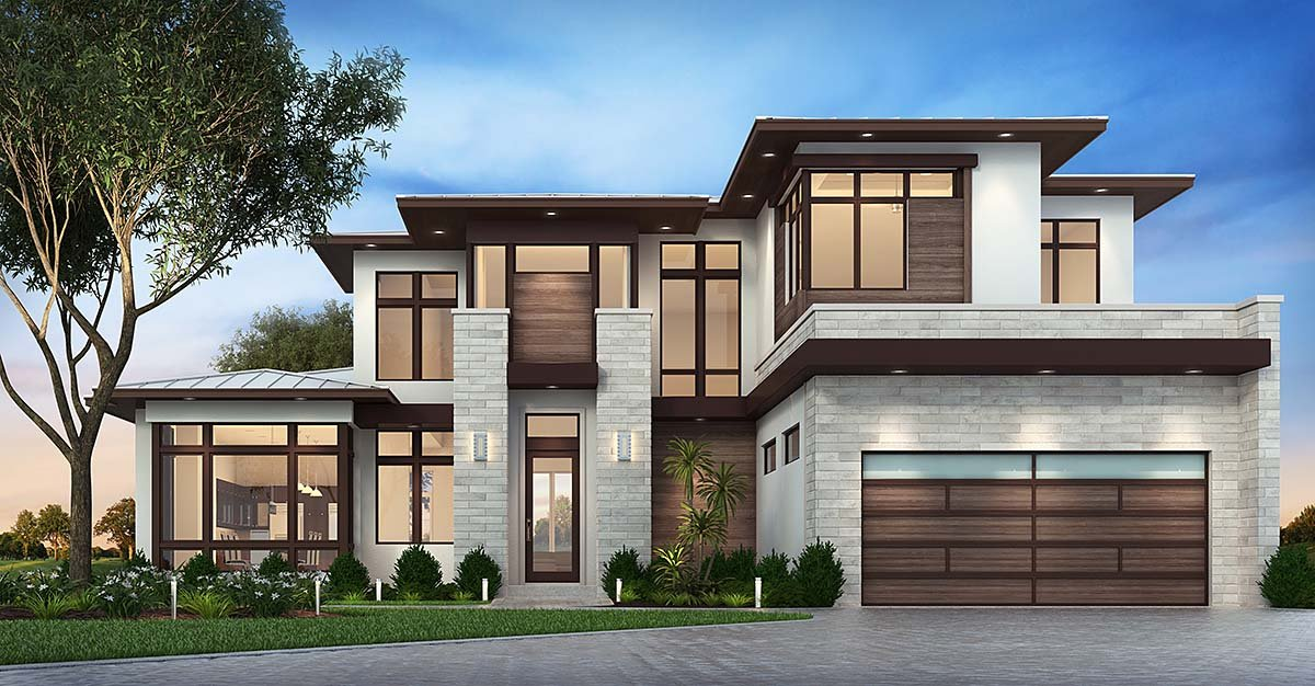 Contemporary Florida Modern House Plan 75977 Elevation