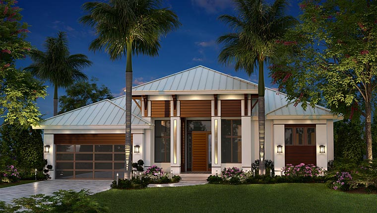 House plan 75989 at for Contemporary coastal house plans