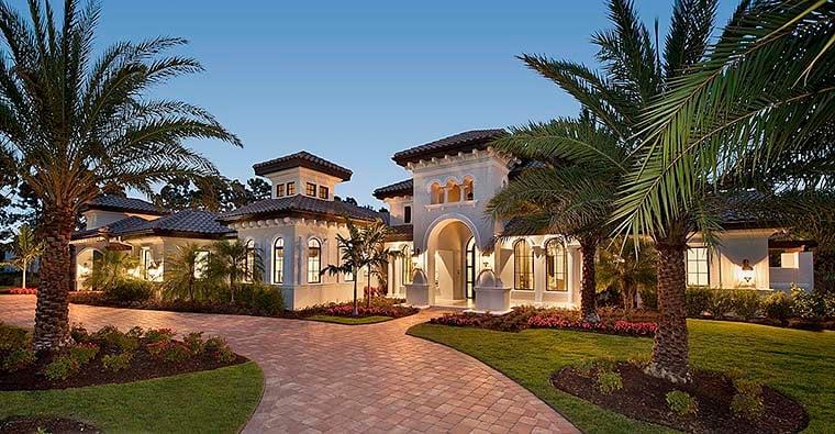 Florida Mediterranean House Plan 75994 Elevation