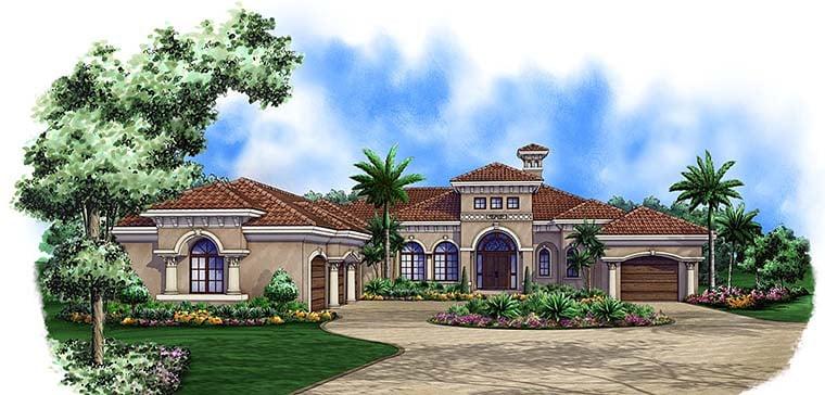 Mediterranean House Plan 75995 Elevation