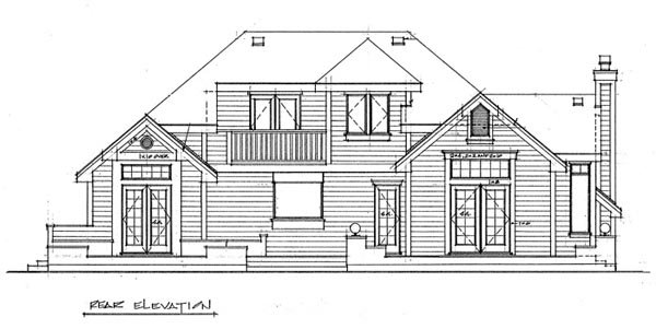 Contemporary House Plan 76003 Rear Elevation