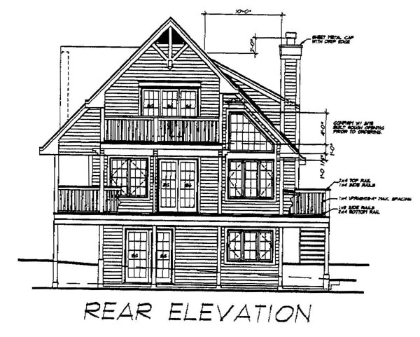Country House Plan 76004 Rear Elevation