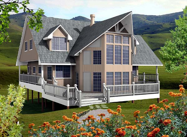 Contemporary House Plan 76007 Elevation