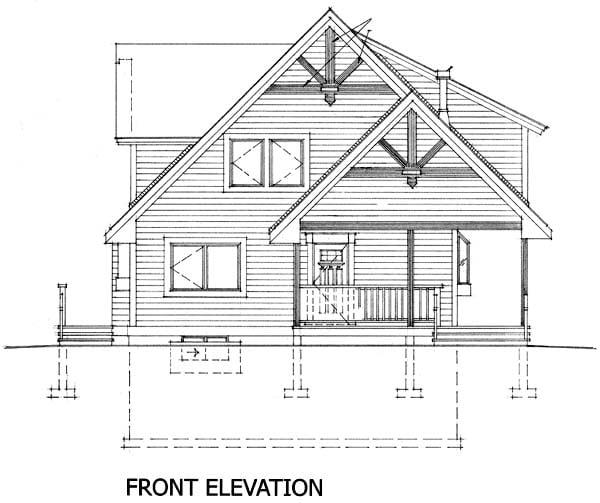 Cabin House Plan 76011 Rear Elevation