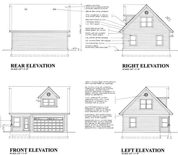 Garage Plan 76013 Rear Elevation