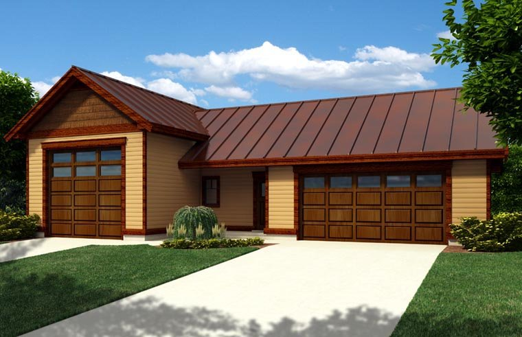 Garage Plan 76025 Elevation