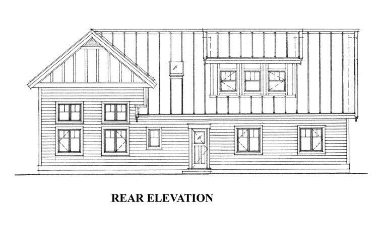 Garage Plan 76029 Rear Elevation