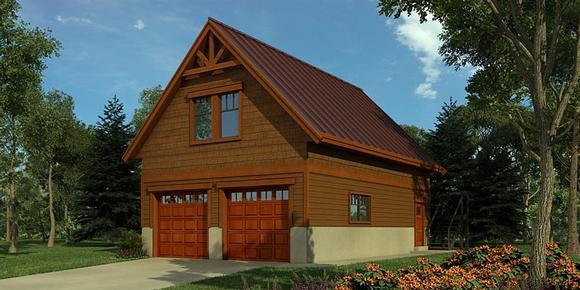 Traditional 2 Car Garage Plan 76049 Elevation