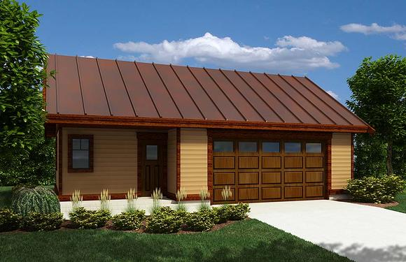 Ranch 2 Car Garage Plan 76068 Elevation