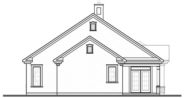 Florida Mediterranean House Plan 76100 Rear Elevation