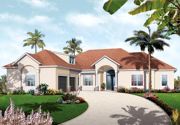 Florida Mediterranean House Plan 76106 Elevation
