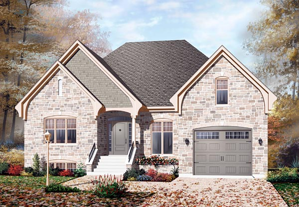 European Traditional House Plan 76112 Elevation