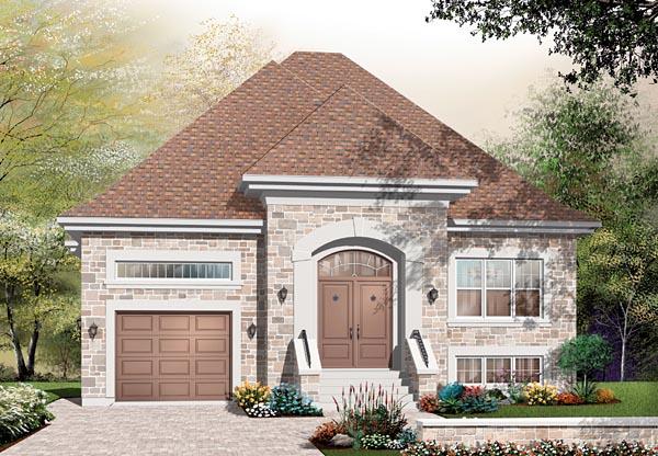 European Traditional House Plan 76113 Elevation