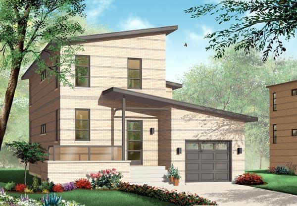Contemporary House Plan 76119
