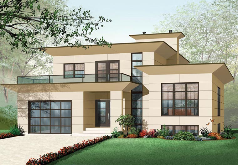 Contemporary House Plan 76120 Elevation