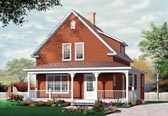 Plan Number 76122 - 1501 Square Feet