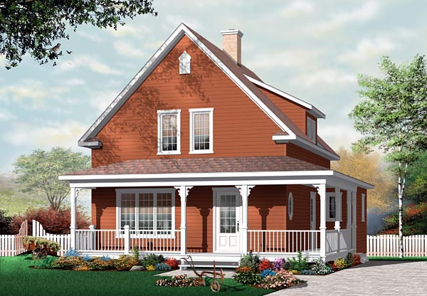 Country Farmhouse House Plan 76122 Elevation