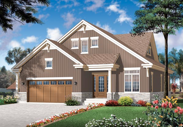 Craftsman, Traditional House Plan 76125 with 4 Beds, 3 Baths, 2 Car Garage Elevation