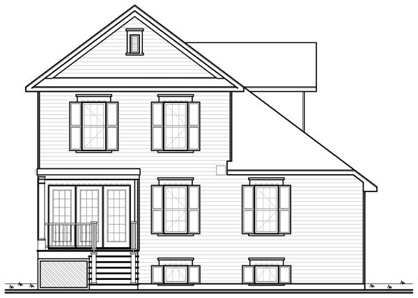 Traditional House Plan 76142 Rear Elevation