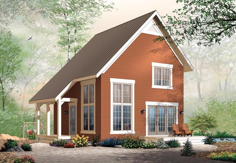 Cabin Traditional House Plan 76149 Elevation