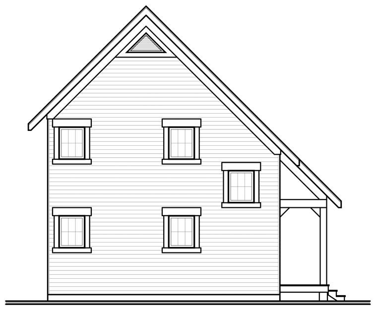 Cabin Traditional House Plan 76149 Rear Elevation