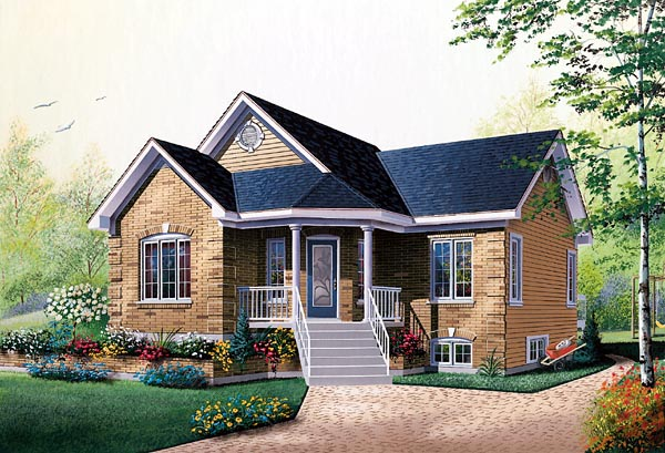 Bungalow, Traditional House Plan 76156 with 2 Beds, 1 Baths Elevation