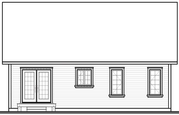 Ranch Traditional House Plan 76157 Rear Elevation