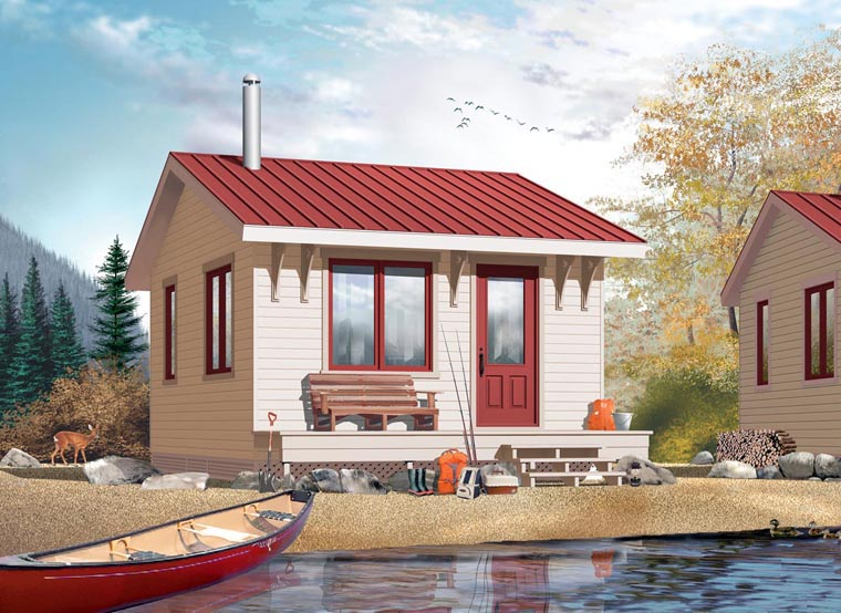 Cabin House Plan 76163 Elevation