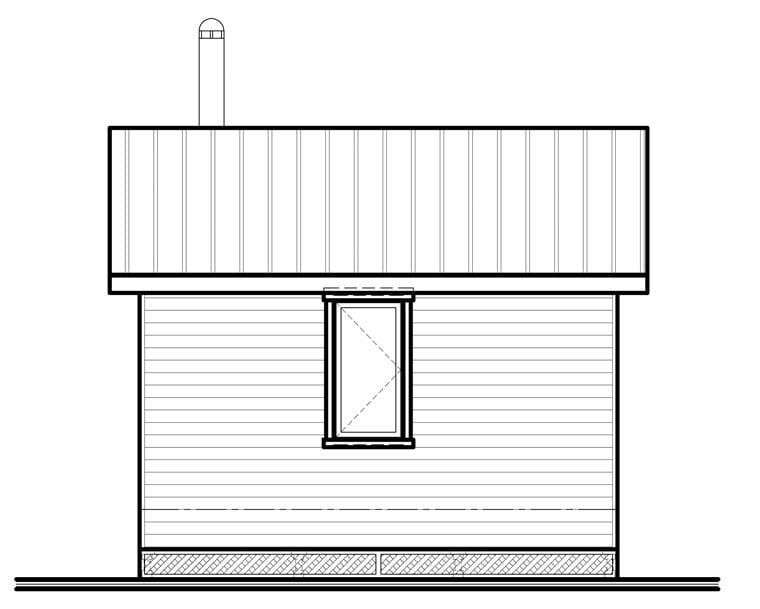 Cabin House Plan 76163 Rear Elevation