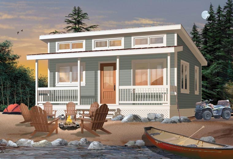 Cabin House Plan 76166 Elevation