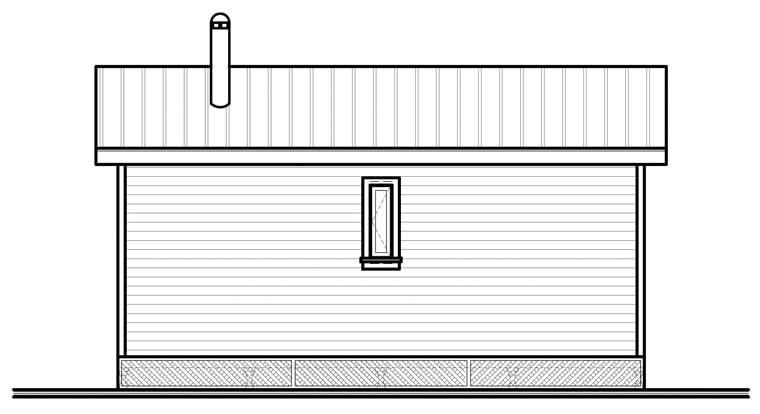 Cabin House Plan 76166 Rear Elevation