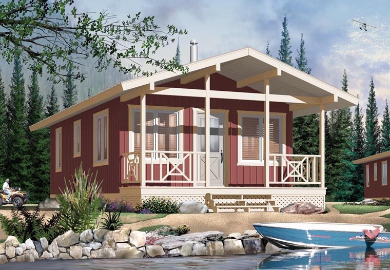 Cabin House Plan 76167 Elevation