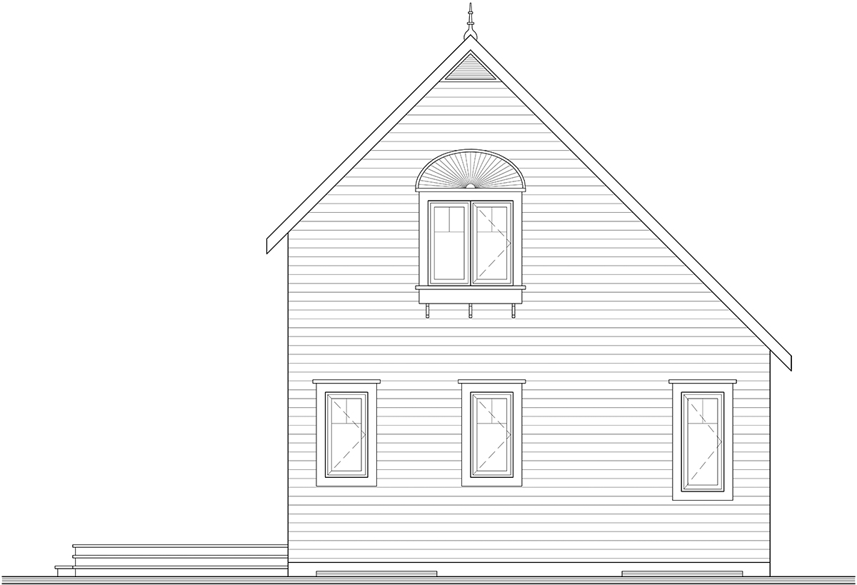Country House Plan 76168 Rear Elevation