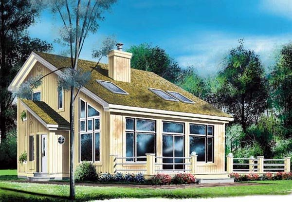 House Plan 76170 At Familyhomeplanscom - saltbox house plans cabin