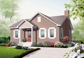 Plan Number 76181 - 896 Square Feet