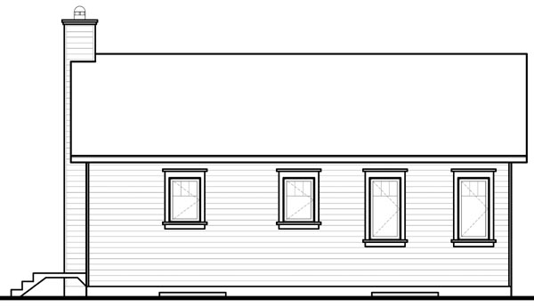 Bungalow House Plan 76181 Rear Elevation
