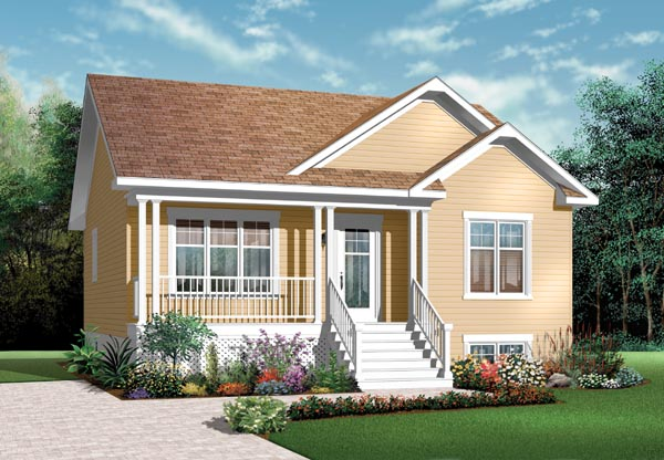 Bungalow Country Traditional House Plan 76183 Elevation