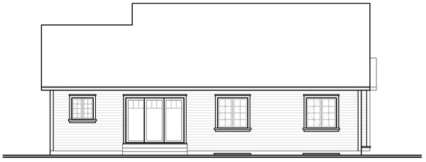Bungalow Country Traditional House Plan 76184 Rear Elevation