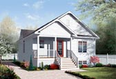 Plan Number 76185 - 1042 Square Feet