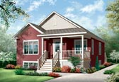 Plan Number 76186 - 1017 Square Feet